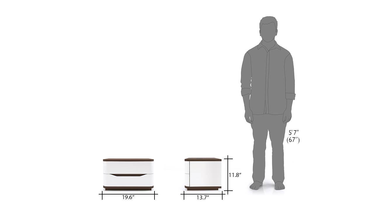 Baltoro high gloss hydraulic storage compact bedroom set queen 11