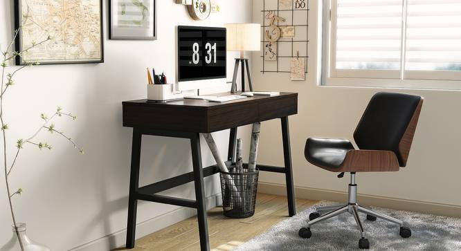 Abigail Study Chair (Black) by Urban Ladder