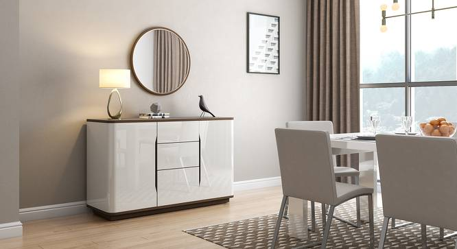 Baltoro Wide High Gloss Sideboard (White Finish) by Urban Ladder - Full View Design 1 - 156923