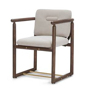 Bethak Dining Chair (With Arms) (Teak Finish) by Urban Ladder