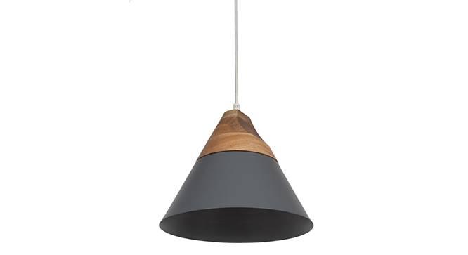 Soleil Pendant Light (Single Arrangement, Matte Grey Shade Finish) by Urban Ladder - Front View Design 1 - 157557