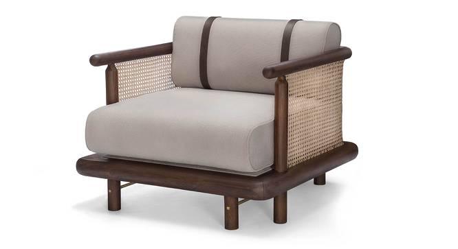 Bethak Single Seater Sofa (Teak Finish) by Urban Ladder