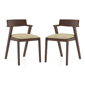 Thomson Dining Chairs - Set of 2 (Beige) by Urban Ladder - Front View Design 1 - 157673