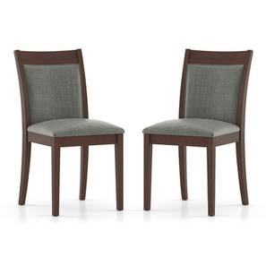 Dalla Dining Chairs - Set of 2 (Grey) by Urban Ladder - Front View Design 1 - 157757