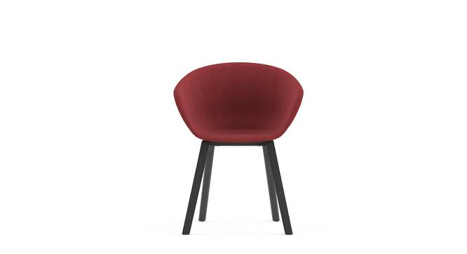 Poulain Accent Chair (Red, Fabric Seat) by Urban Ladder - Front View - 158116