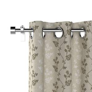 """Moringa Embroidered Curtains - Set Of 2 (Beige, Door Curtain Type, 52""""x104"""" Curtain Size) by Urban Ladder"""