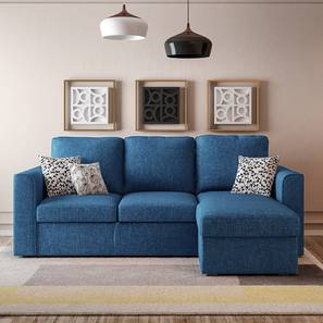 kowloon sectional sofa cum bed with storage blue