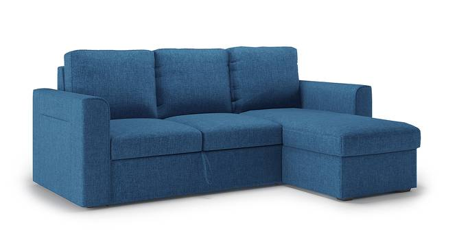 Kowloon Sectional Sofa Cum Bed with Storage (Blue) by Urban Ladder - - 158366