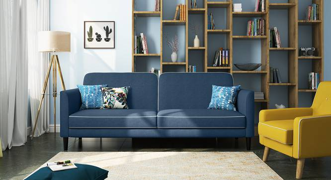 Felicity Sofa Cum Bed (Blue) by Urban Ladder - Design 1 Full View - 158378
