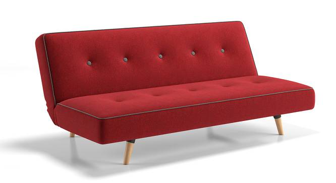 Zehnloch Sofa Cum Bed (Red) by Urban Ladder - Front View Design 1 - 158453