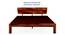 Marieta Bed (Solid Wood) (Teak Finish, King Bed Size) by Urban Ladder - Front View Design 1 - 158648
