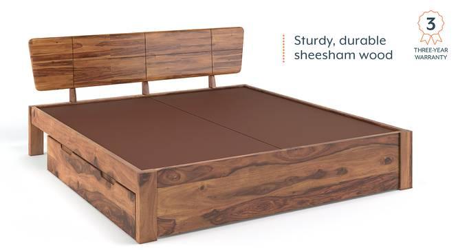 Marieta Storage Bed (Solid Wood) (Teak Finish, King Bed Size, Drawer Storage Type) by Urban Ladder - Cross View Design 1 - 158665