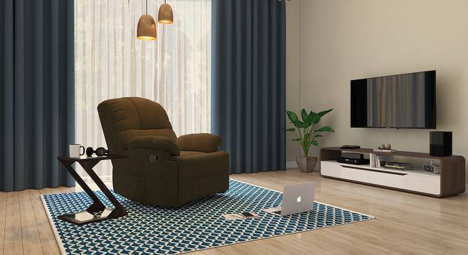 Cooper Rocker Recliner (Carafe Brown, Fabric Material) by Urban Ladder