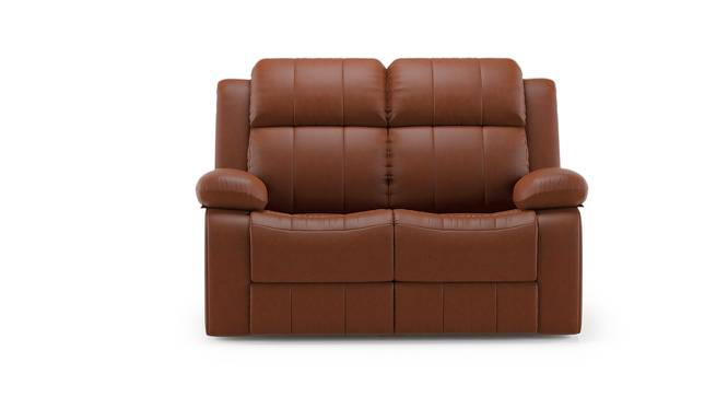 Robert Two Seater Recliner Sofa (Tan Leatherette) by Urban Ladder - Front View Design 1 - 159221
