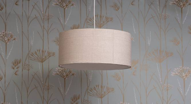 Halo Single Pendant Light (Natural Linen) by Urban Ladder - Design 1 Full View - 159231