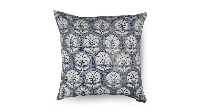 Aza Cushion Cover - Set Of 2 (Indigo Blue, Blue Blossoms Pattern) by Urban Ladder
