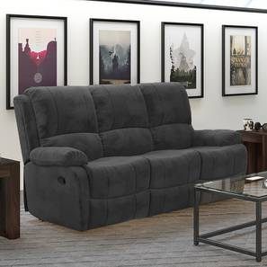Tribbiani Three Seater Recliner Sofa (Grey) by Urban Ladder