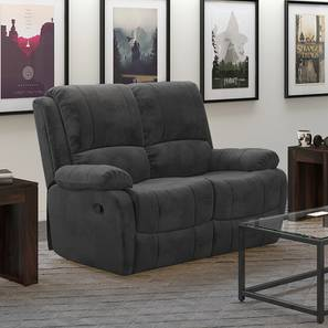 Tribbiani Two Seater Recliner Sofa (Grey) by Urban Ladder - Front View Design 1 - 159485