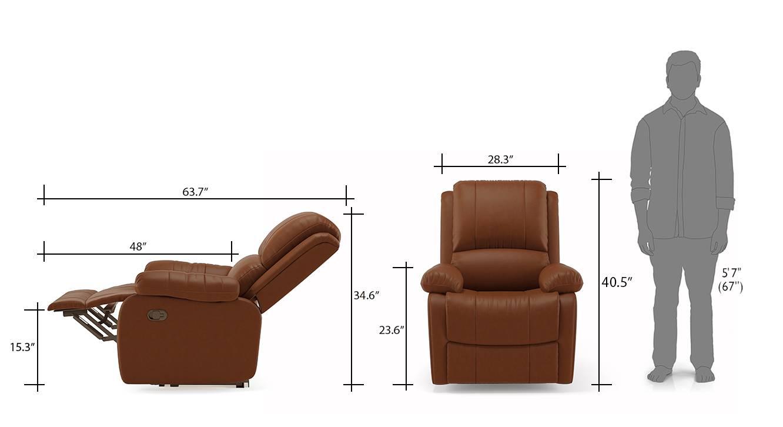 Tribbiani one seater recliner sofa tan 11
