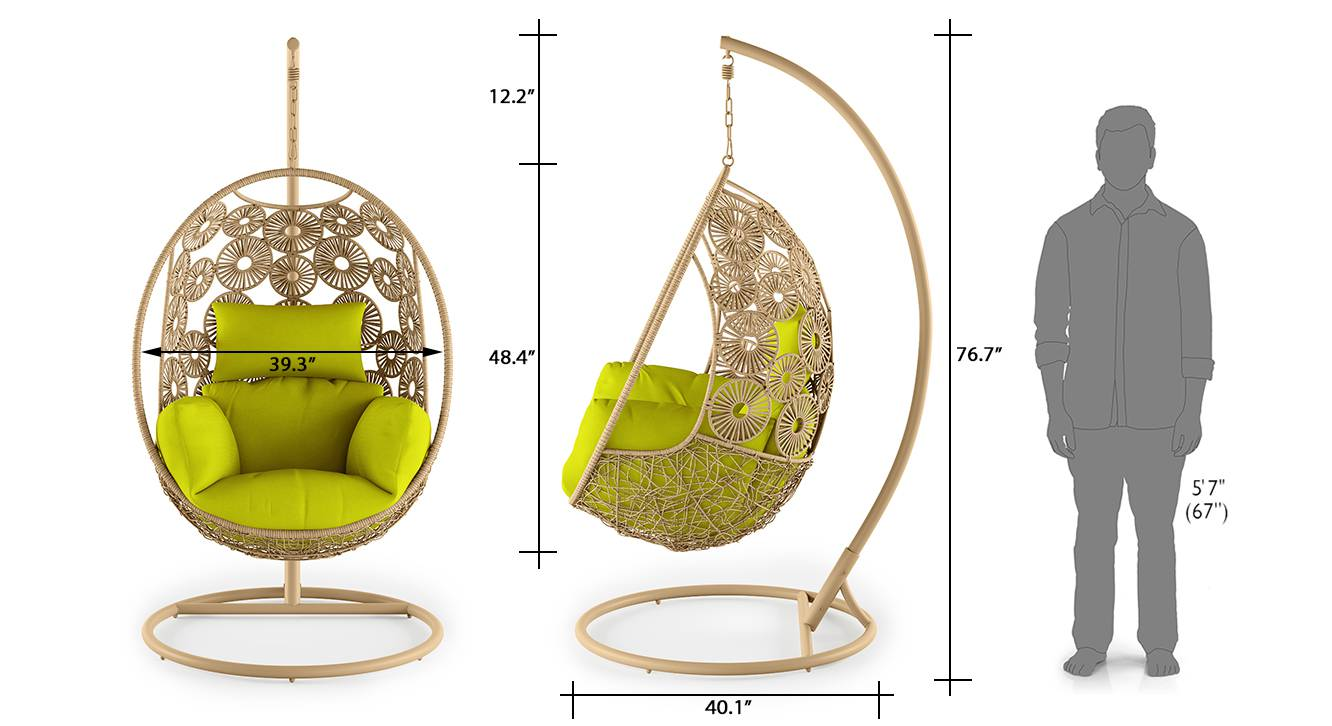 Kyodo swing chair with stand green 9