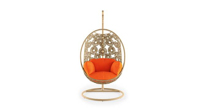 Kyodo Swing Chair With Stand (Orange) by Urban Ladder