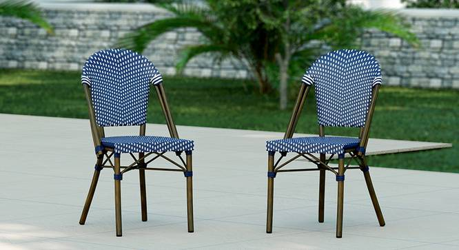 Kea Patio Chair - Set of 2 (Blue & White) by Urban Ladder