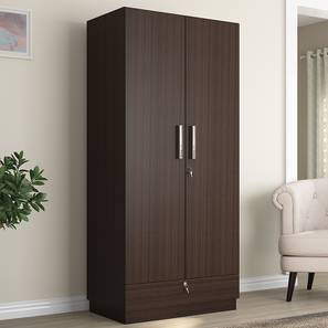 Bocado Wardrobe (Dark Walnut Finish, Two Door) by Urban Ladder