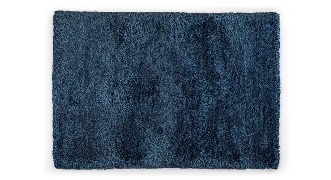 "Linton Shaggy Rug (Blue, 152 x 91 cm  (60"" x 36"") Carpet Size) by Urban Ladder - Front View Design 1 - 160521"