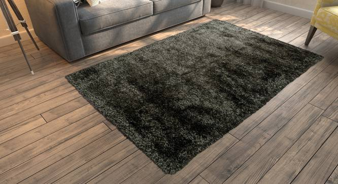 "Linton Shaggy Rug (Grey, 72"" x 48"" Carpet Size) by Urban Ladder"