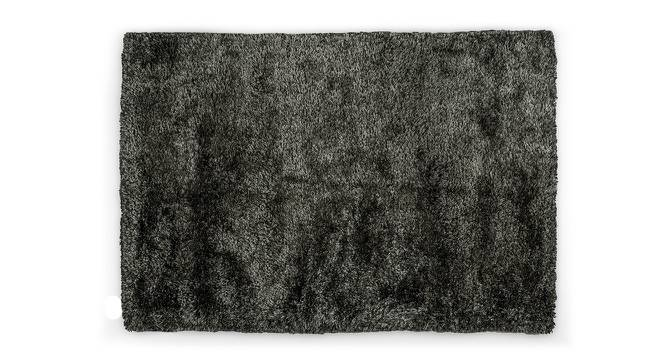 "Linton Shaggy Rug (Grey, 152 x 91 cm  (60"" x 36"") Carpet Size) by Urban Ladder - Front View Design 1 - 160534"