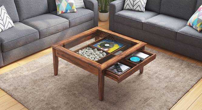 Tate Display Coffee Table (Teak Finish) by Urban Ladder