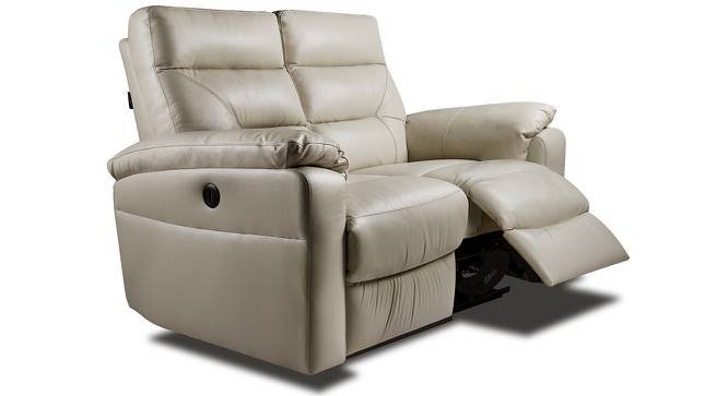 Calvin Motorized 2 Seater Leather Recliner (Cream Italian Leather) by Urban Ladder