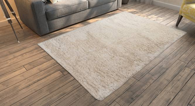 "Linton Shaggy Rug (152 x 244 cm  (60"" x 96"") Carpet Size, Ivory) by Urban Ladder - Design 1 Full View - 160922"