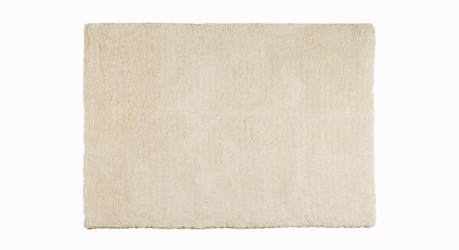 "Linton Shaggy Rug (152 x 244 cm  (60"" x 96"") Carpet Size, Ivory) by Urban Ladder - Front View Design 1 - 160923"