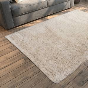 "Linton Shaggy Rug (Ivory, 152 x 91 cm  (60"" x 36"") Carpet Size) by Urban Ladder - Design 1 Full View - 160932"