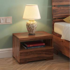 Ohio Bedside Table (Teak Finish) by Urban Ladder - Full View Design 1 - 160985