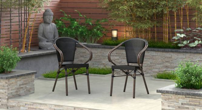 Cirali Patio Chair - Set of 2 (Black) by Urban Ladder