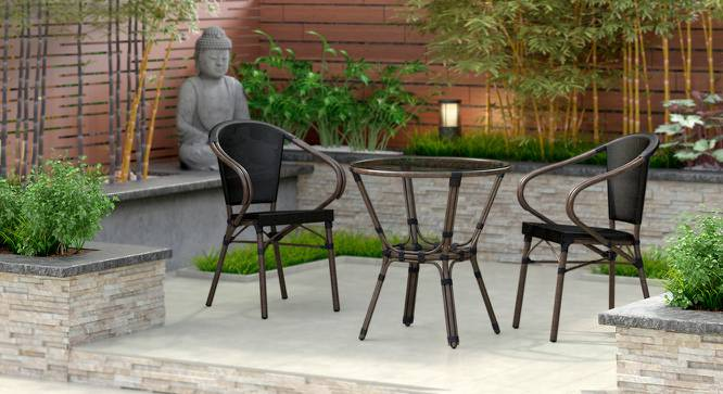 Cirali Patio Table & Chair Set (Black) by Urban Ladder