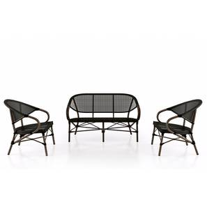 Cirali Two Seater And One Set Black