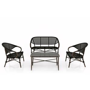 Cirali Table & Chair Set (Black) by Urban Ladder