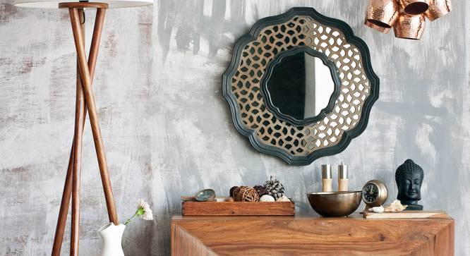 Hepburn Round Wall Mirror (Round Mirror Shape) by Urban Ladder