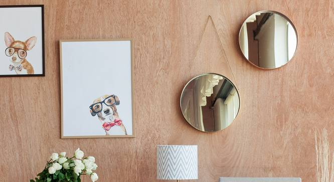 Taylor Round Wall Mirror (Round Mirror Shape) by Urban Ladder