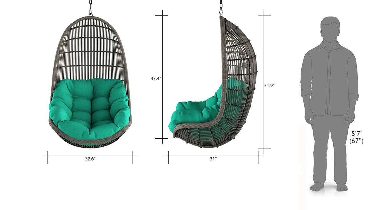 Piver chair with long chain teal 8