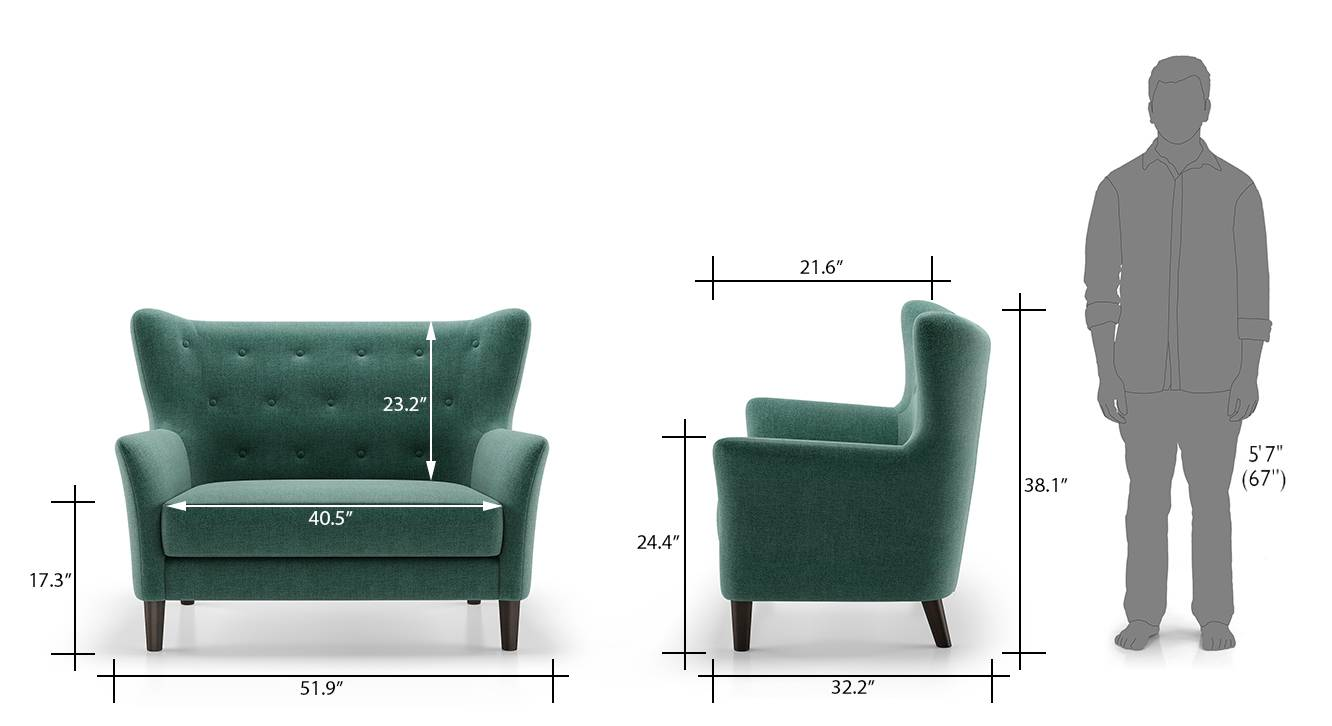 Frida loveseat jade 7