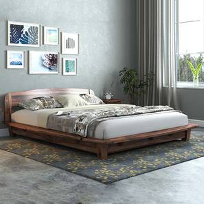 Tahiti Platform Bed (Teak Finish, Queen Bed Size) by Urban Ladder - Design 1 Full View - 161352