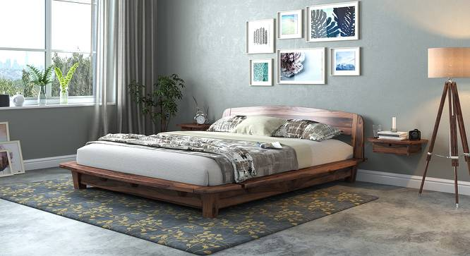 Tahiti Platform Bed (Teak Finish, Queen Bed Size) by Urban Ladder