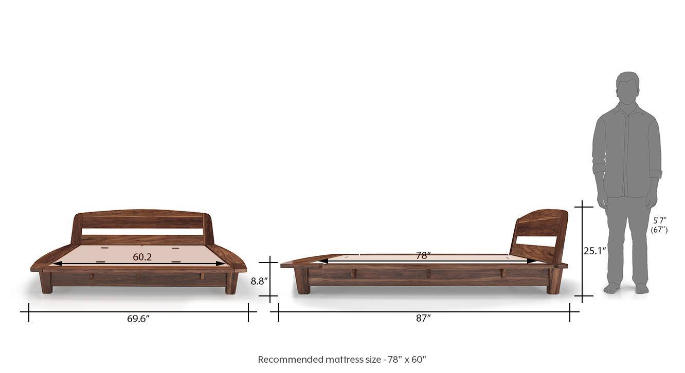 Tahiti bed queen teak 12newdim