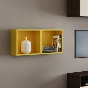Henson Floating Shelf - Set Of 2 (Yellow Accent Colour) by Urban Ladder