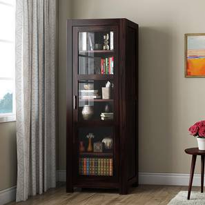 Murano Single Door Display Cabinet Mahogany Finish By Urban Ladder