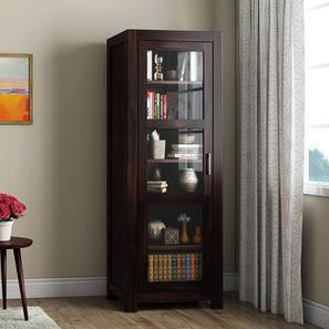 Murano Bookshelf/Display Cabinet (55-book capacity) (Mahogany Finish) by Urban Ladder - Front View Design 1 - 161501